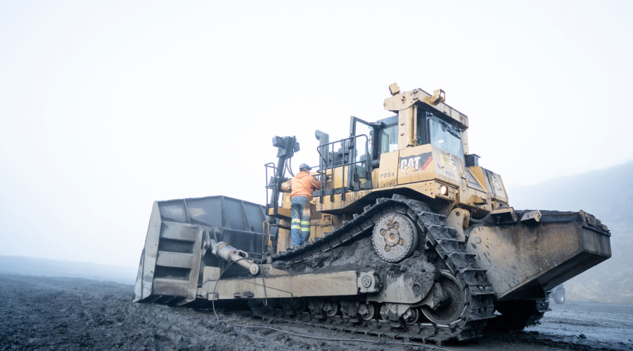 Preston Employee In Action Working On A Cat P054
