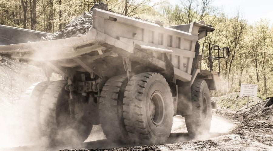 Preston Contractors Dump Truck Driving Through Job Site