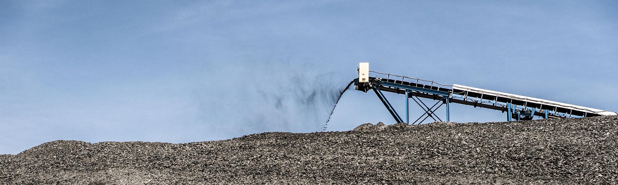 Machinery Processing Material At Job Site