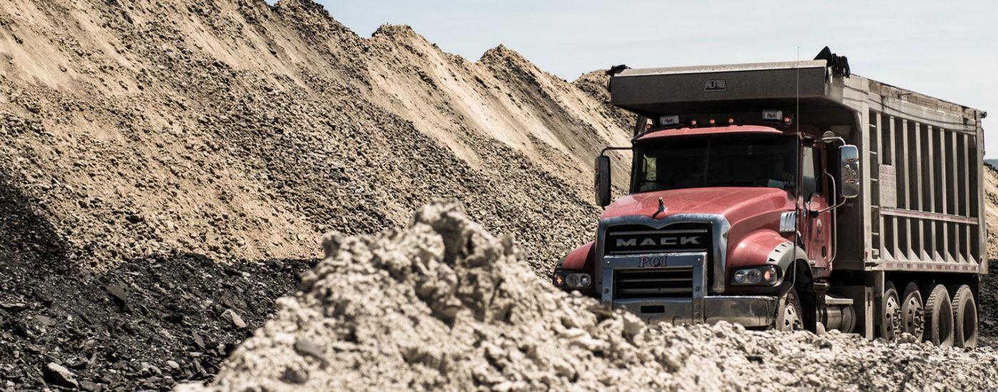 Preston Contractors Mack Truck At Job Site