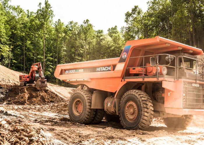Hitachi EH1100 At Job Site
